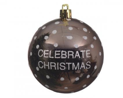 Weihnachtskugel bruchfest glanz Farbe Champagner 8cm