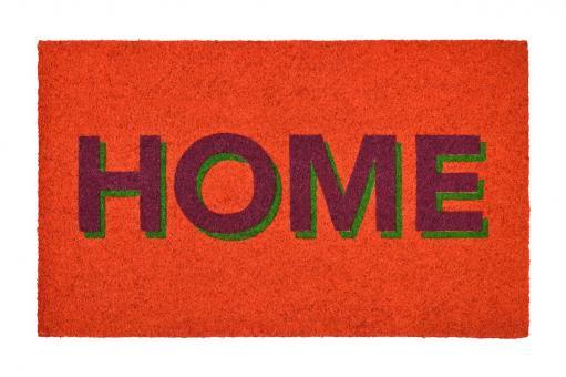"""Fußmatte """"Home"""", Neon Orange"""