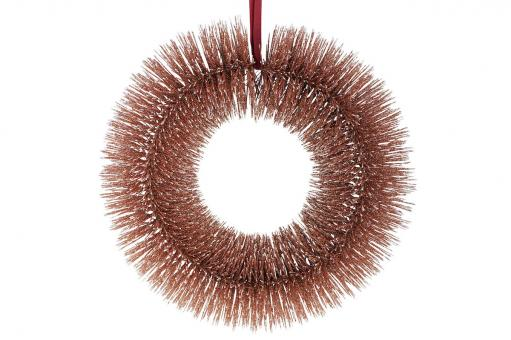 Kranz mit Glitter, Soul, 27cm, roségold