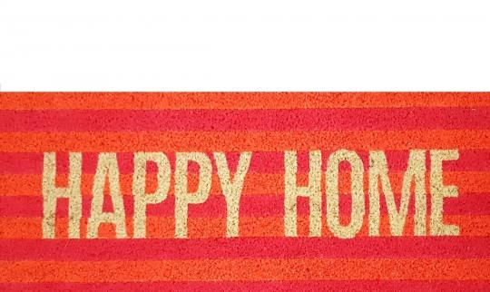 "Fußmatte ""Happy Home"", Neon mehrfarbig"