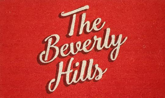 """Fußmatte """"The Beverly Hills"""", rot"""