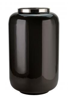 Vase Saigon Farbe Schwarz/Silber, Größe XL