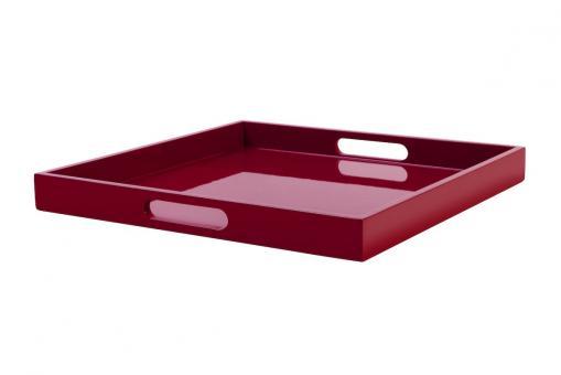 Spa Tablett, M, quadratisch, rot