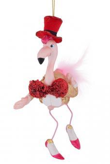 Hänger Flamingo mit Zylinder