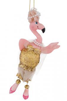 Hänger Flamingo mit Kleid