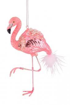 Hänger Flamingo Glitzer