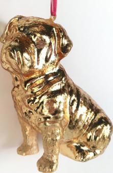 Hänger Bulldogge, shiny gold