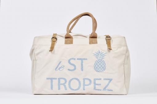 Große Tasche mit Print St. Tropez