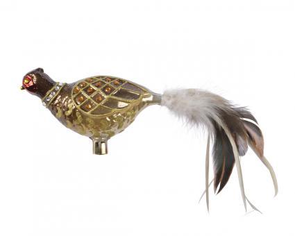 Vogel aus Glas Fasan auf Klipp