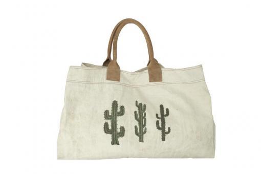 Große Tasche mit Kaktusprint