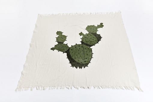 Decke/ Plaid mit Kaktusmotiv