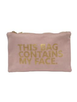 Kosmetiktasche Farbe Pink mit goldener Aufschrift
