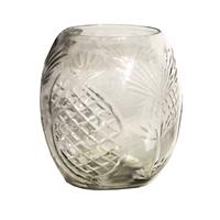 Windlicht/ Vase mit Ananasschliff in Handarbeit