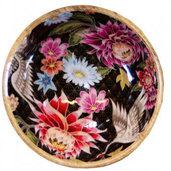 Salatschale Lotusblume/Kranich Größe S