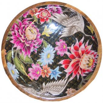 Salatschale Lotusblume/Kranich Größe L