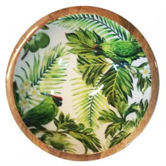 Salatschale Palmenblätter/Papagei Größe S
