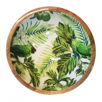 Salatschale Palmenblätter/Papagei Größe M