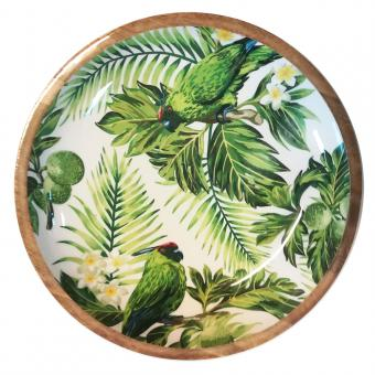 Salatschale Palmenblätter/Papagei Größe L