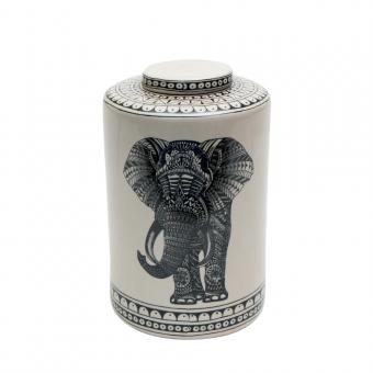 Porzellandose Elefant mit Deckel