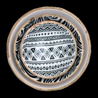 Salatschalen African Bowl 3er Set