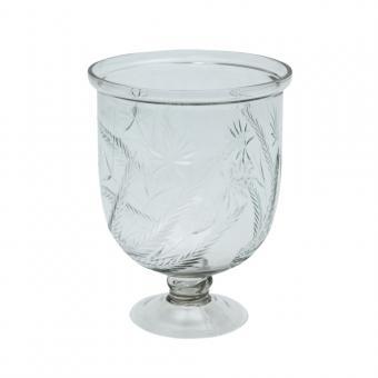 Windlicht/ Vase mit Schliff in Handarbeit