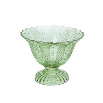 Glasschale aus Recyclingglas, Farbe Grün