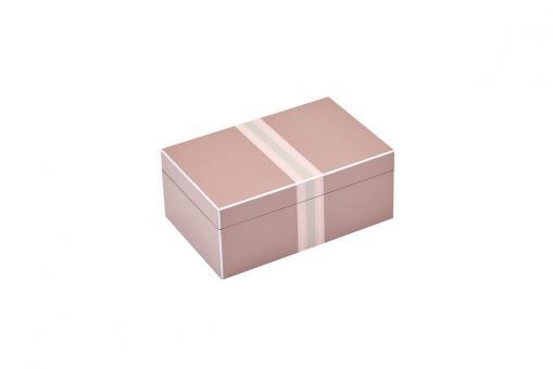 Schmuckbox Tang mit Streifen, Farbe Rosewood