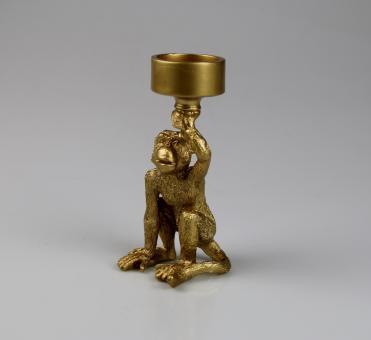 Kerzenhalter Affe Farbe Gold