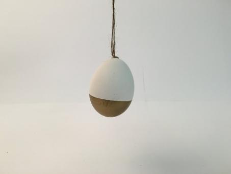 Ostereier weiß/gold