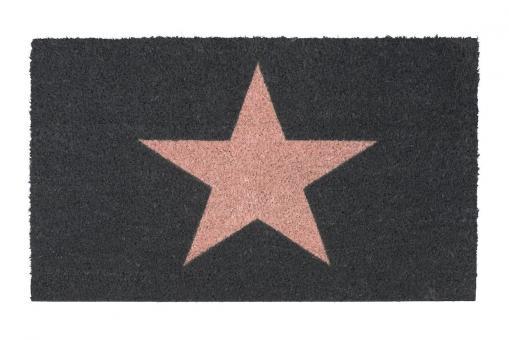 Fußmatte, Star, Farbe Blush/Grau