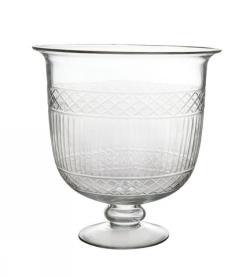 Windlicht/ Vase Streifenschliff