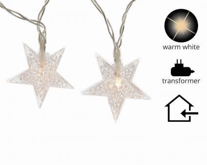 LED Sternenlichterkette transparent 4m