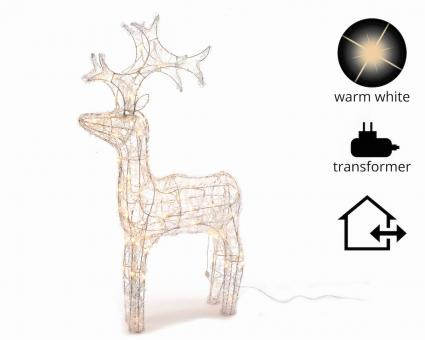 LED Acryl Rentier 120cm Outdoor