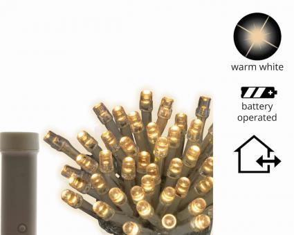 LED Ricelight Lichterkette batteriebetrieben 48 Lichter Outdoor