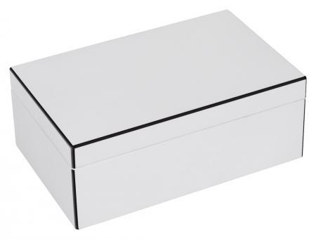 Schmuckbox Tang Farbe Weiß, Ränder Farbe Schwarz
