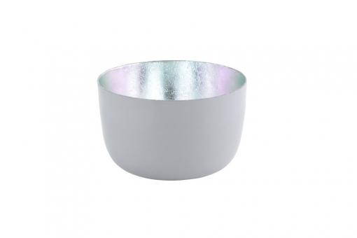 Madras Windlicht Farbe Cool Grey Shiny/Silber