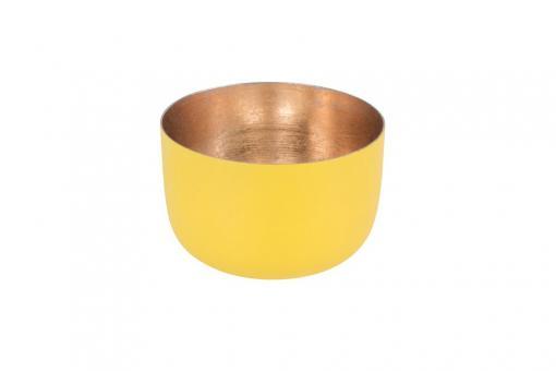 Madras Windlicht Farbe Lemon/Nudegold