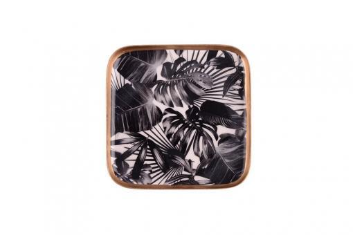 Untersetzer Saigon quadratisch Black Leaves
