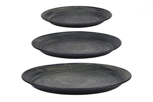 Tablett Epoca aus Metall, Farbe Schwarz