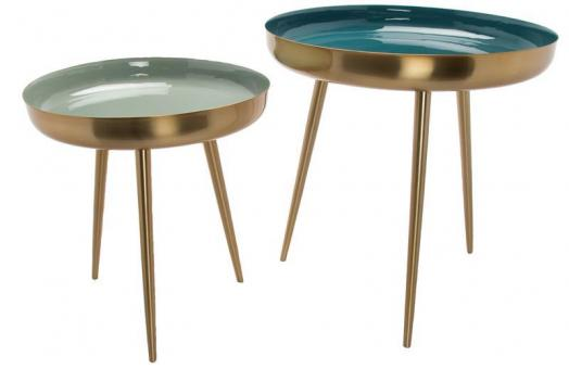 Coffee Table Set Grün