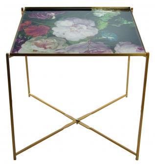 Tabletttisch Bouquet Gold