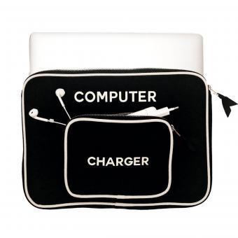 Laptop Hülle groß, Farbe Schwarz