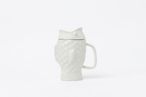 Teetasse mit Sieb Taiyaki Cream