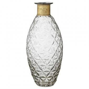 Vase Blasia Ornamentdesign in Flaschenform Größe L