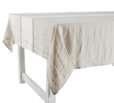 Tischdecke mit Streifen Weiß