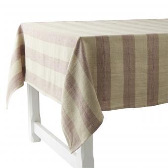 Tischdecke mit Balkenstreifen bordeaux