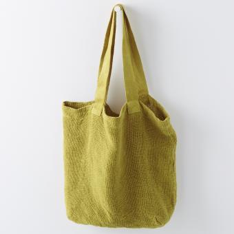 Tasche aus Leinen Gelb