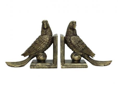Buchstützen Parrot 2er Set, Farbe Gold