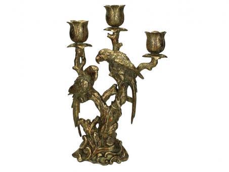 Kerzenhalter Parrot, Farbe Gold