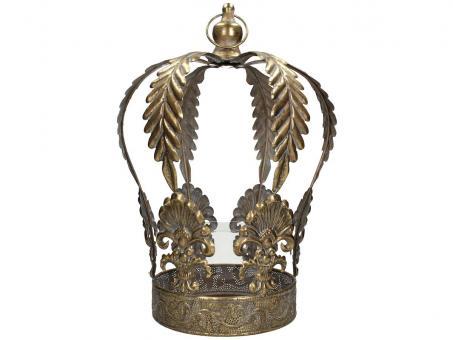 Windlicht Krone, Farbe Gold